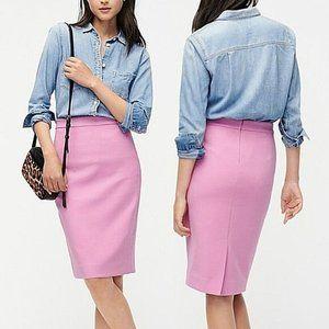 J. Crew Pink Midi No. 2 Pencil Wool Skirt